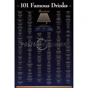 famous drinking 101 greatest movie quotes poster