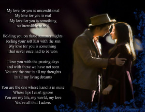 My Love for You Is Unconditional..!