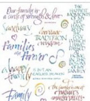 ... - Family Quotes - Teri Martin Clear Stickers Scrapbooking Supplies