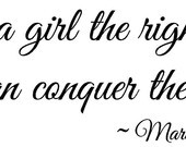 ... right shoes and she can conquer the world wall art wall sayings quotes