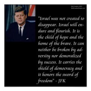 JFK & Israel Quote Poster