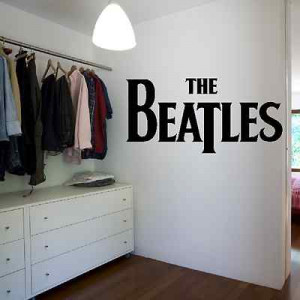 The Beatles Font Logo Quote Wall Sticker Art Decor Transfer Design ...
