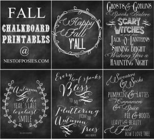 love these free printables that have a chalkboard look!