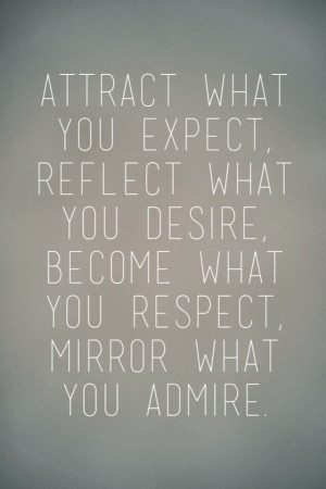 Live by example!