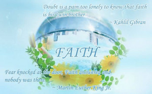 ... Pain Too Lonely To Know That Faith Is His Twin Brother ~ Faith Quote