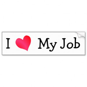 Funny Grumpy BullDog I love My Job Office Joke Bumper Stickers