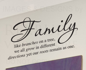 ... -Sticker-Quote-Vinyl-Art-Lettering-Family-Like-Branches-on-a-Tree-F28