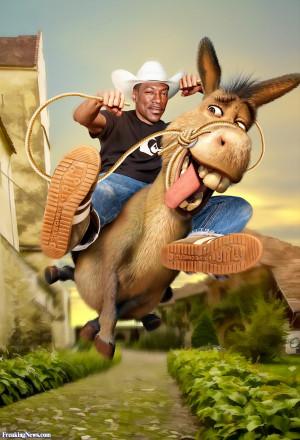 Eddie Murphy Riding Donkey from Shrek