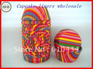 free shipping 100pcs rainbow paper baking cups cake tools cup cake