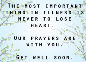 get well soon flowers and prayers