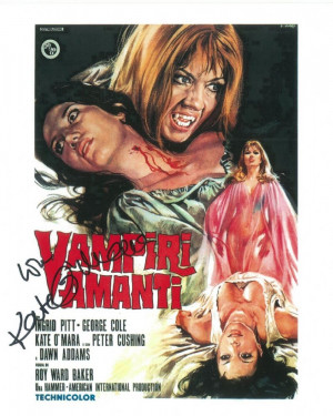 Kate O Mara Hammer Horror Genuine Signed Autograph 8276 16968 Pekm
