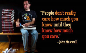 People don't care how much you know quote image