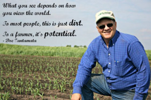 To most people, this is just dirt. To a farmer, it's potential!