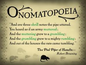 Onomatopoeia Fancy Term For...