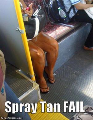 Spray Tan Fail