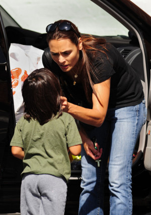 Talisa Soto And Mateo Bravery Bratt At Whole Foods picture
