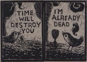 ... dark deep morbid bird nightmare insane evil darkness emo gothic