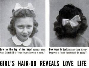 hair vintage high school bows teens hair styles 1940s mid century Teen ...