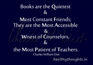 thought for the day-quotes-Books are the quietest and most constant ...