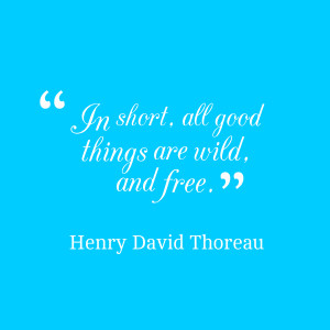 Quotes Picture: in short, all good things are wild, and free