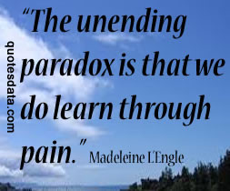 If you don't know about pain and trouble, you're in sad shape. They ...