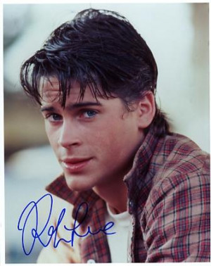 young rob lowe, wish you were still young :(