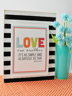 Fun and bright printable love quote in celebration of Valentine's Day ...
