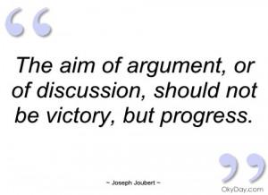 the aim of argument joseph joubert