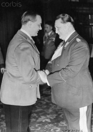 Alfred Rosenberg Shaking Hands with Hermann Goering