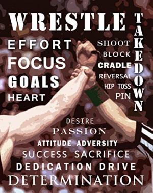 Wrestling Motivational Poster Art Print 11×14 Kids Shoes Head Gear ...
