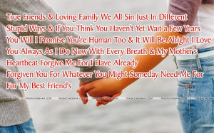 True Friends & Loving Family We All Sin Just In Different