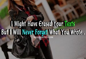 Forget Quotes | I will Never Forget