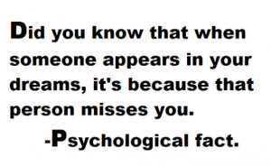 When Someone Appears In Your Dream, That Person Misses You: Quote ...