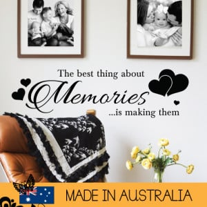 ... About Memories Wall Sticker Family Home Quotes Inspirational