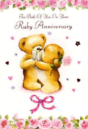 For Both Of You On Your Ruby Anniversary (Pink Bow)