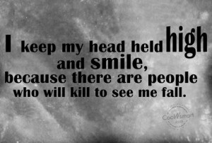 Fake Family Members Quotes Enemy quote: i keep my head