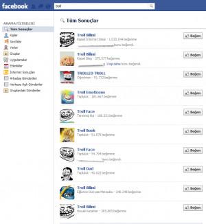 Troll Facebook Arama Bilimi