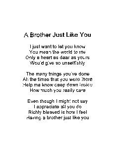Brother Poems From Sister | Make selection on Order Now Page More