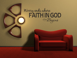 ... -WHERE-FAITH-IN-GOD-Vinyl-Wall-Quote-Decal-Inspirational-Bible-Word