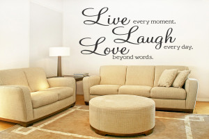 ... LAUGH-LOVE-Removable-Wall-Quote-Decal-Sticker-Wall-Art-Decor-Lettering