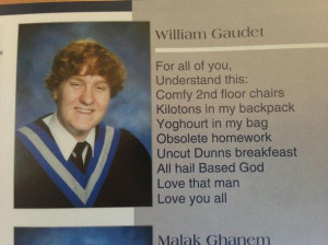 Speaking of good yearbook quotes it took me longer than Id care to ...