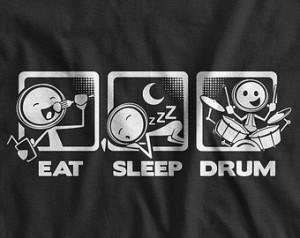 Funny Drums T-shirt Drummer Drumming Eat Sleep Drum T-shirt V4 Gifts ...