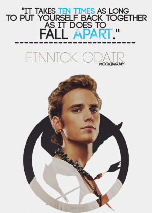 catching fire, finnick odair, mockingjay, quotes, the hunger games