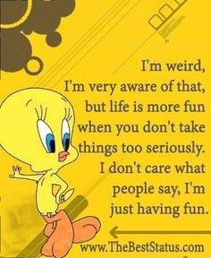 cartoon quot tweetybird tweety bird quotes tweeti bird fun weird