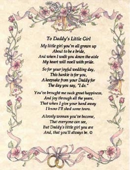 to daddy s little girl my little girl you re all grown up about to be ...