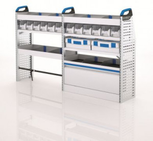 Quick Quote Racking Sortimo Medium Vans Driver Side Rack and Boxes