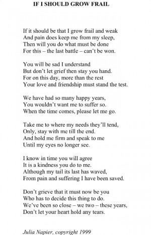 Dog Loss Quotes Pet loss poem. via gerry