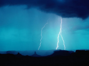 Lightning Over Great Basin Desert, Four Corners Monument Navajo Tribal ...