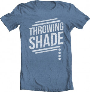 Throwing Shade Men's Blue Graphic Tee