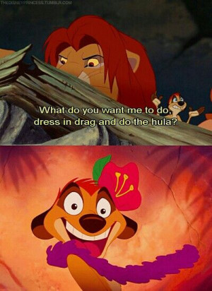 lion King 1 when Simba come home fight for his land and had the timon ...